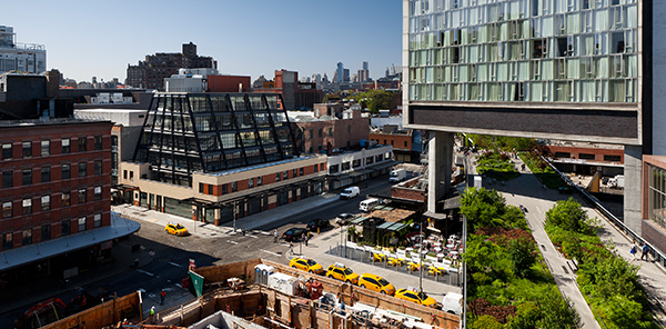 Morris Adjmi adds a twisted steel exoskeleton to a landmarked industrial building on a marquee site in the Meatpacking District. 837 Washington Street.