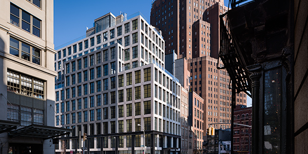 11 North Moore, a luxury condominium designed by Morris Adjmi, AA Studio, and Sawyer Berson, asserts its presence in Tribeca. 11 North Moore.